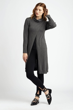 INDIGENOUS DESIGNS Cross-Front Cowl Tunic - Product List Image