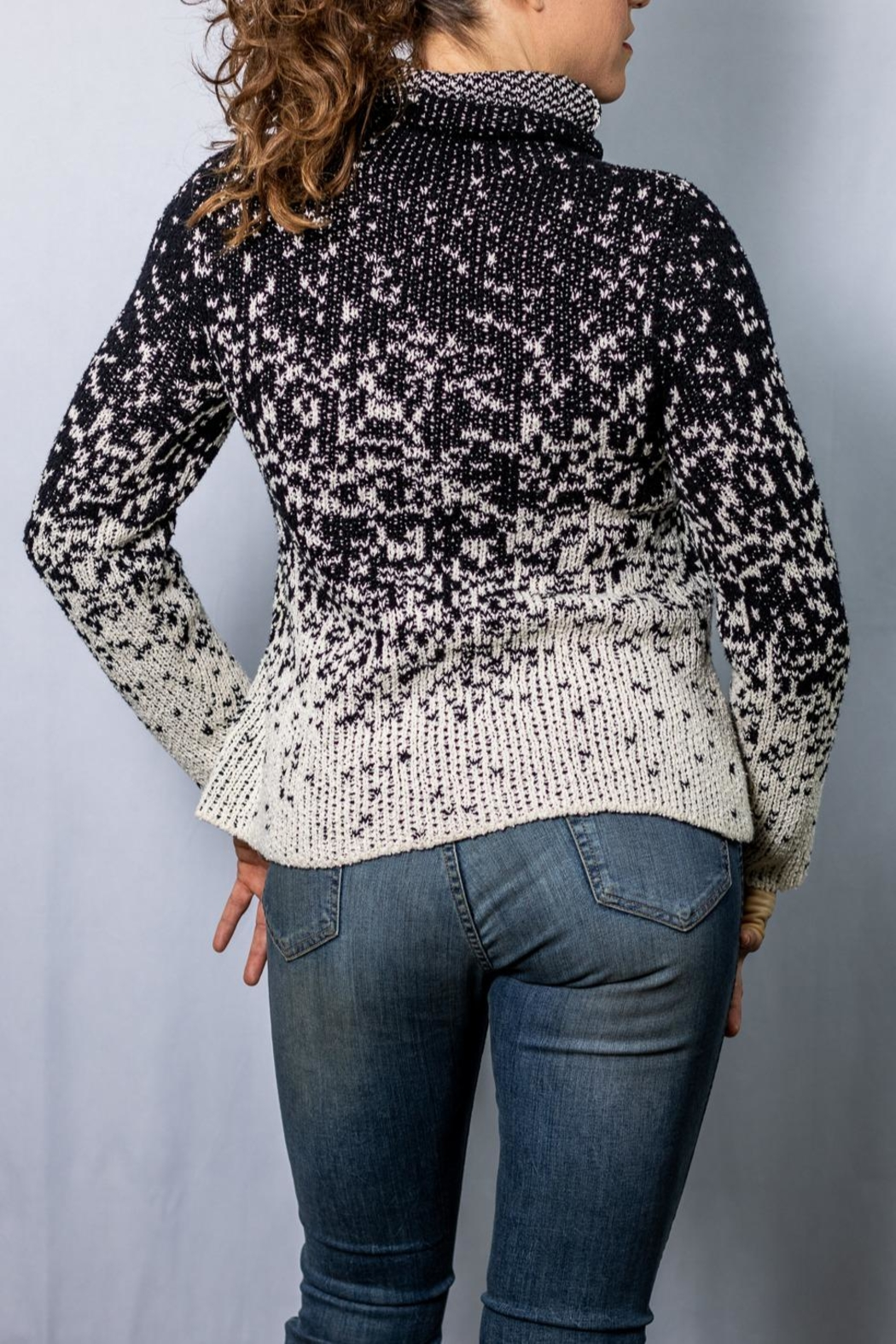 INDIGENOUS DESIGNS Funnel Neck Pullover - Front Full Image