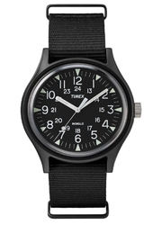 timex Indiglo Black Watch - Front cropped