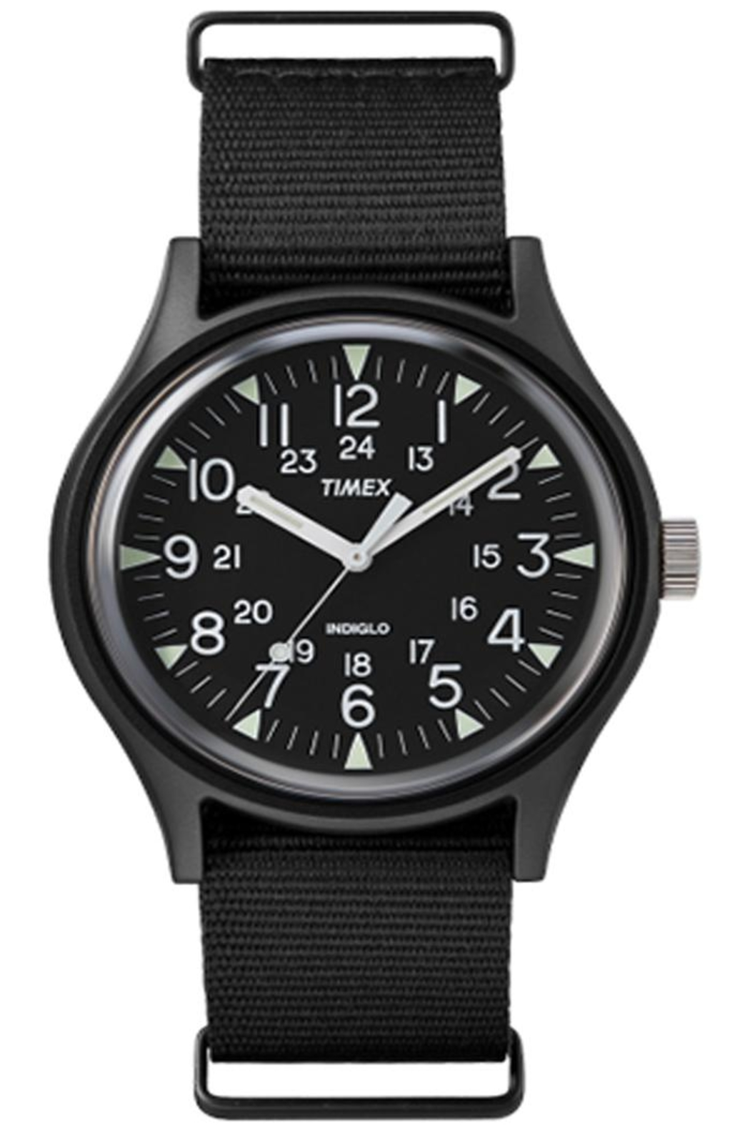 timex Indiglo Black Watch - Front Full Image