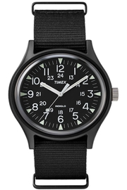 timex Indiglo Black Watch - Front full body