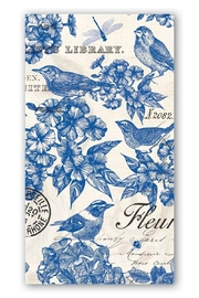 Michel Design Works Indigo Cotton Hostess Napkins - Product Mini Image
