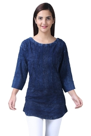 Parsley & Sage Indigo Cotton Top - Product Mini Image