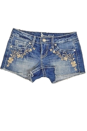 Soundgirl Indigo Embroidery Shorts - Product Mini Image