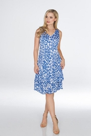 Carine Indigo Leopard Dress - Product Mini Image