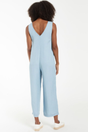 z supply Indigo Relaxed Jumpsuit - Back cropped