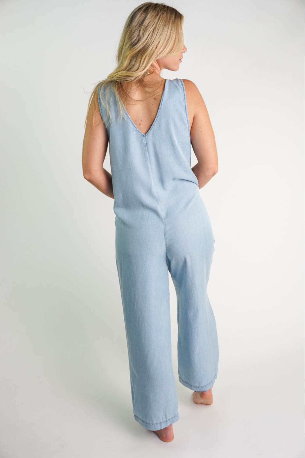 z supply Indigo Relaxed Jumpsuit - Side Cropped Image