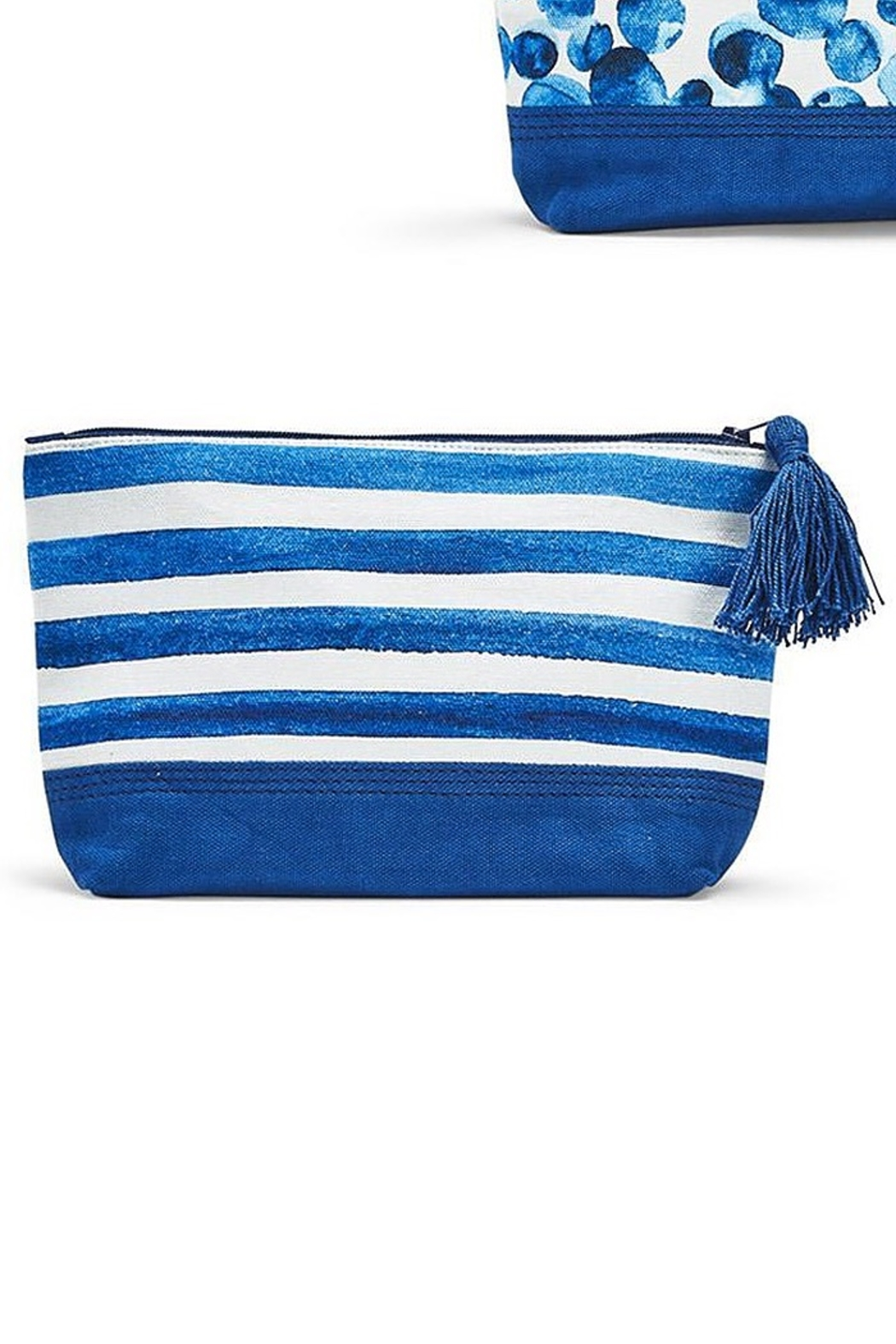 Two's Company Indigo Tech Bag - Front Cropped Image