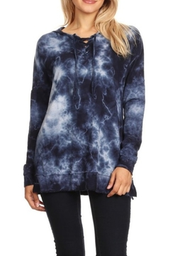 T Party Indigo Tie Dye Hoodie - Product List Image