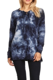 T Party Indigo Tie Dye Hoodie - Product Mini Image