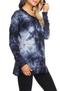 T Party Indigo Tie Dye Hoodie - Alternate List Image