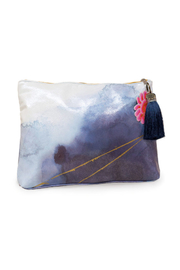 PAPAYA! Indigo Watercolor Large Pouch - Product Mini Image