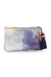 PAPAYA! Indigo  Watercolor Small Pouch - Product Mini Image