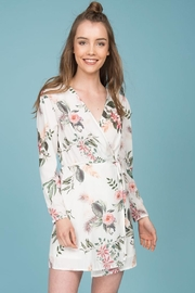 Indikah Floral-Wrap Short Dress - Product Mini Image
