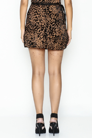 Indikah Leopard Print Skirt - Back cropped