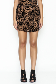Indikah Leopard Print Skirt - Front full body