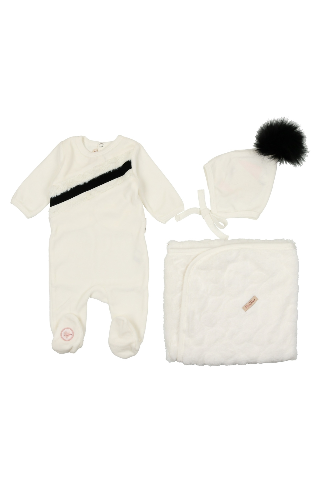 MON TRESOR  INFANT BABY LAYETTE BY BEBE - Front Cropped Image