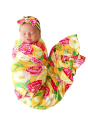 Posh Peanut Annika Infant Swaddle and Headwrap Set - Front cropped