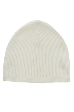 Shoptiques Product: INFANT WHITE RIB KNIT HAT BY KIPP