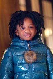 COZY COOP Infants' and Toddlers Quilted Winter Jacket - Front full body