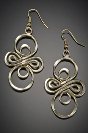 Anju Handcrafted Artisan Jewelry Infinity Earring - Front full body