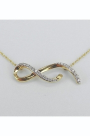 Margolin & Co Infinity Necklace, Yellow Gold Diamond Necklace Pendant 18.5