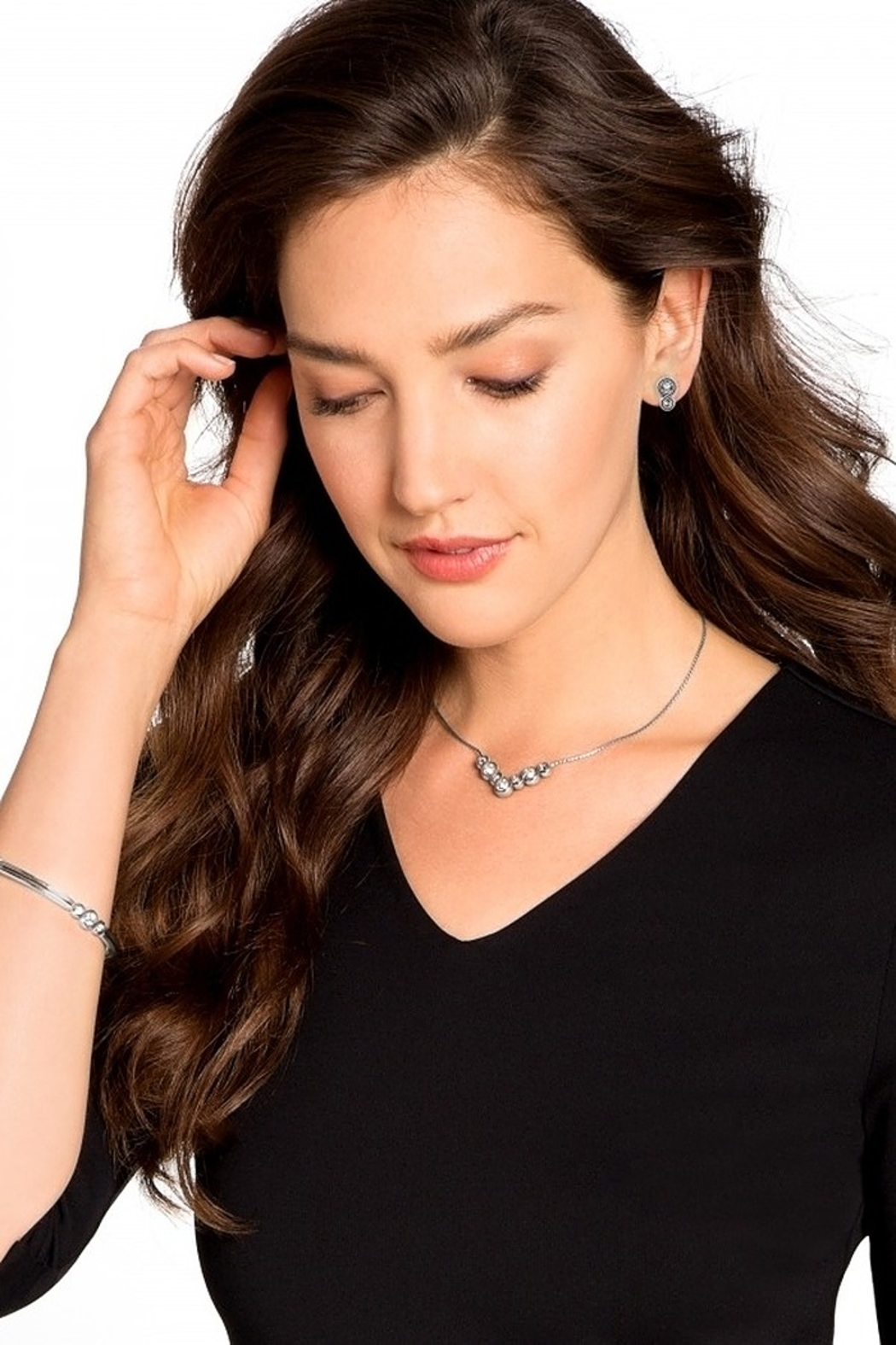 Brighton Infinity Sparkle Necklace JL4382 - Front Full Image