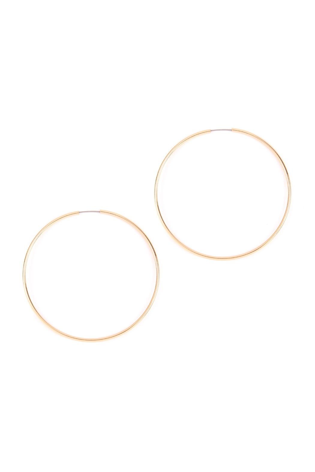 Riah Fashion Infinity-Wire Hoop Earrings - Front Cropped Image