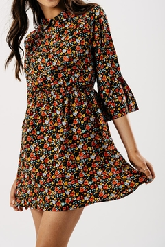 Shoptiques Product: Floral Bellsleeve Dress