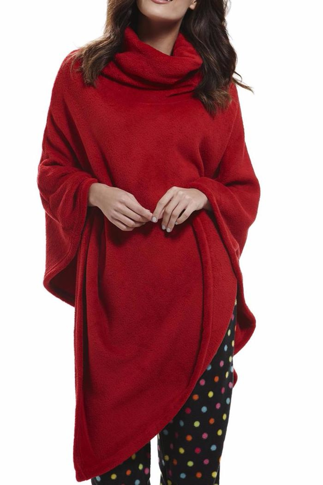 Influence Polar Red Fleece Poncho - Main Image