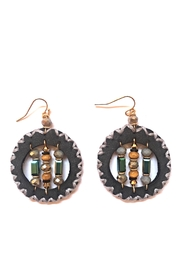 Influence Round Earrings - Back cropped