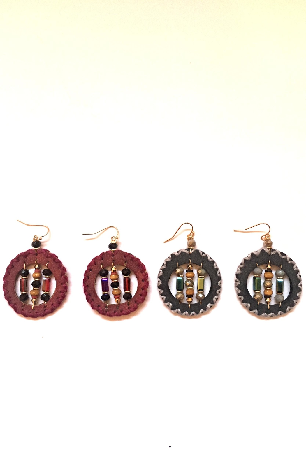 Influence Round Earrings - Front Full Image