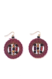 Influence Round Earrings - Front cropped