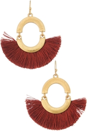Influence Tassel Fan Earrings - Product Mini Image
