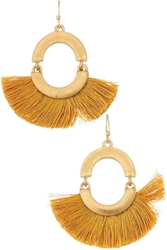 Influence Tassel Fan Earrings - Alternate List Image