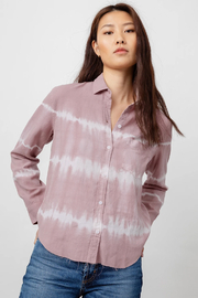 Rails Clothing Ingrid Raw Hem Button Down - Front cropped