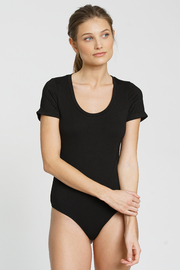 DRA Clothing Ingrid S/S Black Bodysuit - Front cropped