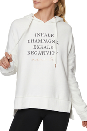 Betsey Johnson Inhale Champagne Drop Shoulder Hoodie - Product Mini Image
