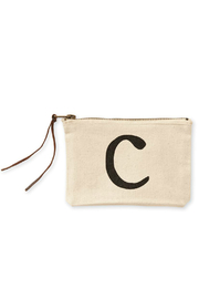 Mud Pie Initial Canvas Bag - Side cropped