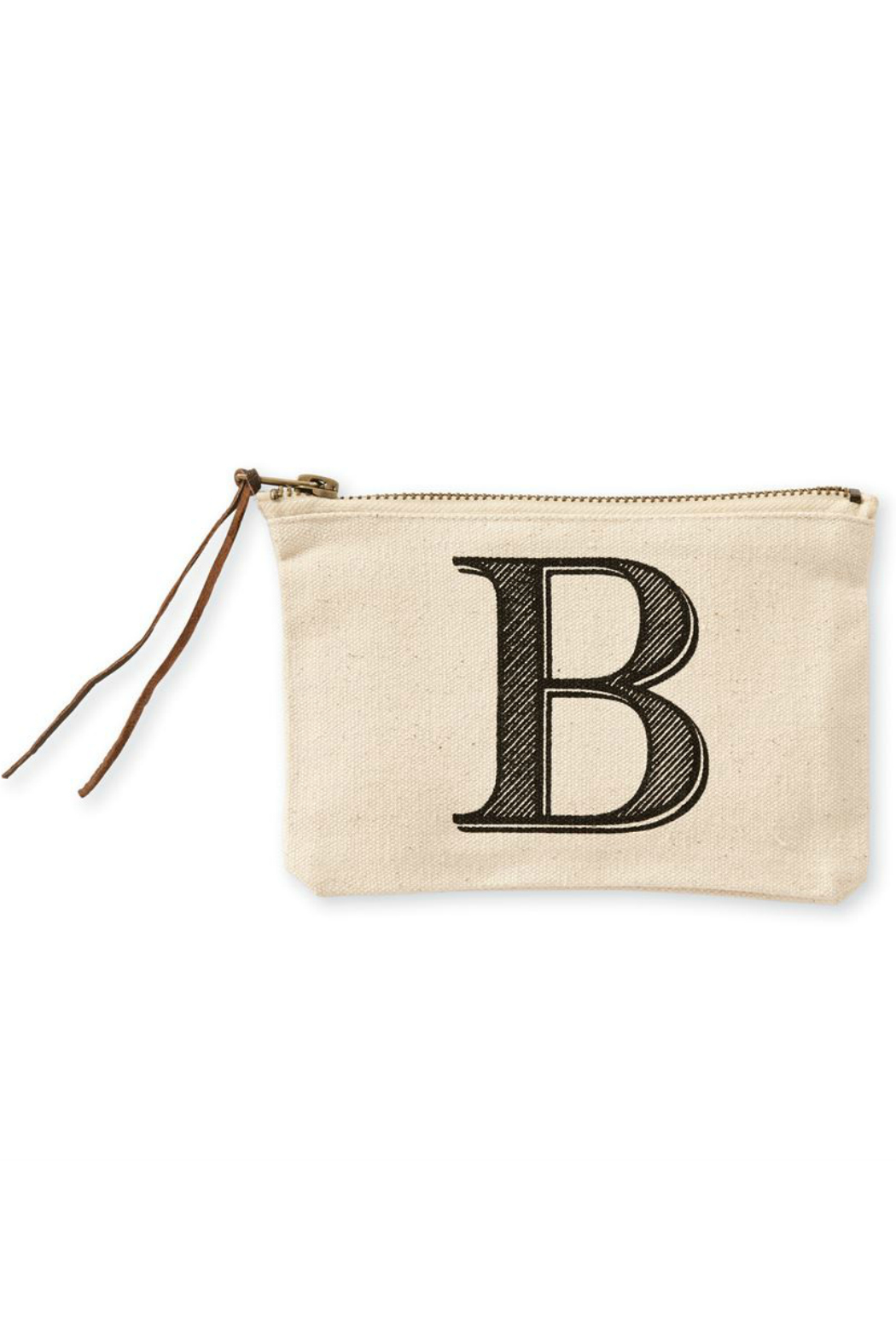 Mud Pie Initial Canvas Bag - Front Full Image