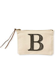 Mud Pie Initial Canvas Bag - Front full body