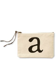 Mud Pie Initial Canvas Bag - Product List Image