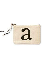 Mud Pie Initial Canvas Bag - Product Mini Image