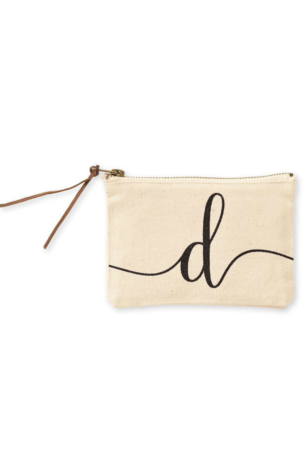 Mud Pie Initial Canvas Bag - Back Cropped Image