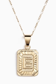 BRACHA Initial Card Necklace - Product Mini Image