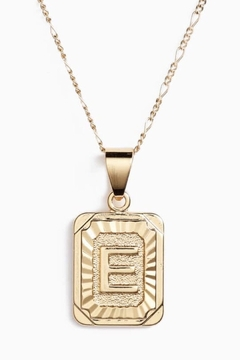 BRACHA Initial Card Necklace - Product List Image