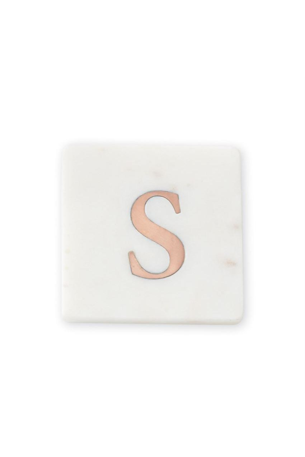 Lets Accessorize Initial Marble-Copper Coasters - Main Image