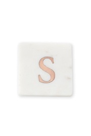 Lets Accessorize Initial Marble-Copper Coasters - Product Mini Image