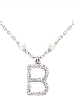 Lau International Initial Pearl-diamond Necklace - Alternate List Image