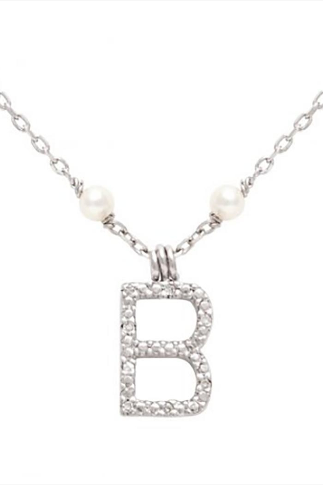 Lets Accessorize Initial Pearl-diamond Necklace - Side Cropped Image